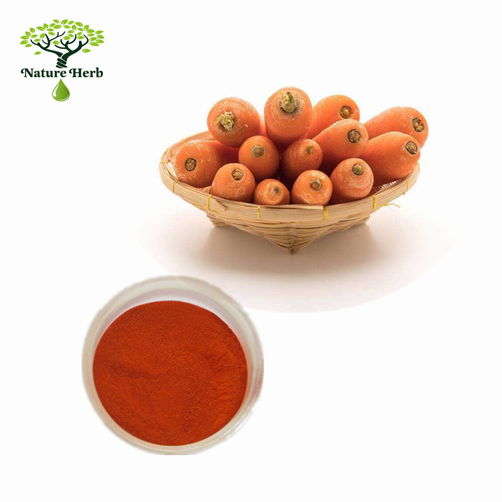 pure natural beta carotene herbal extract use to lotion additive