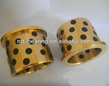 Flanged oilite bushing sliding bearing / graphite bronze bush / JDB bushing