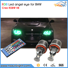 factory direct price wifi control rgb color H8 led angel eyes for bmw 08-10 5-series e60 528i, 528xi, 535i, 535xi, 550i