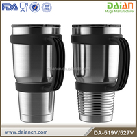 Custom stainless steel double insulated tumblers with handle