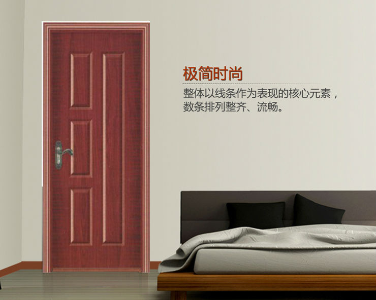 cheap project interior melamine laminated mdf door frame