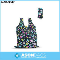 210D Polyester Folding Shopping Bags In A Pouch