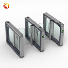 Compact Space Saving Speed Gate RFID Card Reader Security Turnstile Gate