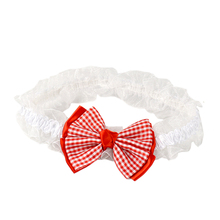 Cute baby big bowknot flower headband lovely pink/white lace headwear mom's favourite accessory for child
