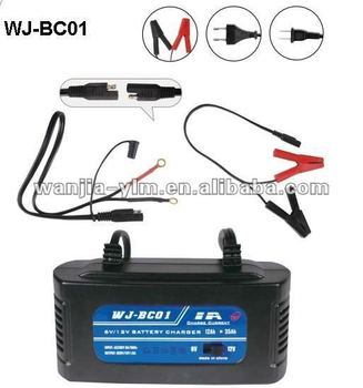 1A--6V/12V--12Ah--Battery Charger