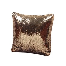 2017 New Hot DIY Two Tone Glitter Sequins Mermaid Sequin Pillow Magical Color Changing Home Decorative Throw Cushion Cover