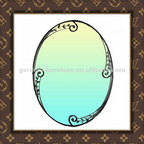 Metal Oval Mirror Frame