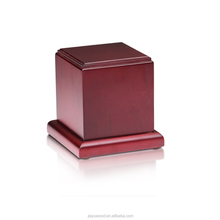 Wholesale china funeral product genuine rosewood eco pet urn ashes dog casket