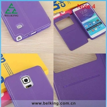 Flip smart cover For Galaxy Note 4 window viewing leather case