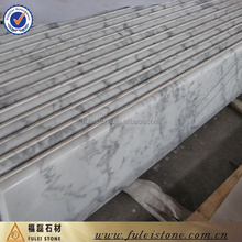 High quality Home decoration guangxi white marble stairs