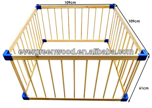 Baby Wood Square Playpen