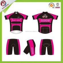 polyester quick dry custom team cycling clothing china