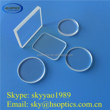 Clear round rectangular quartz glass plate