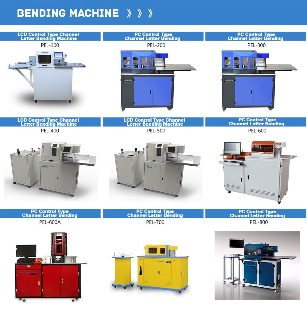 made in china channel letter bending machine for luminous Plexiglas-fronted box letters
