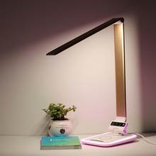 New arrival touch switch desk lamps with sleep mode in telligent design wireless charging for mobile