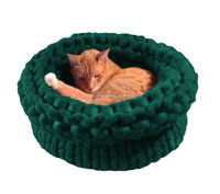 Hot sale nice soft warm Ky1520 Giant Knitting Big Extreme Pet Beds Chunky Knit Pet Bed handmade wool Cat Bed Dog house