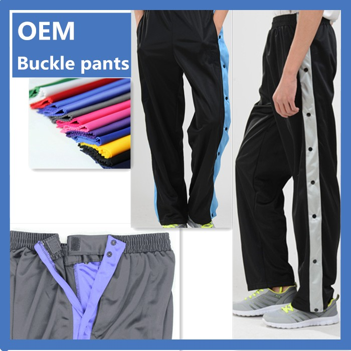 Latest Style Full buckl Men Sweat Adult sports training pants
