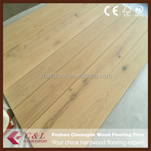Foshan stock Unfinished Oak Parquet wood Flooring