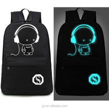 2016 tide cool Korean version of luminous bag Hot explosion models shoulder backpack school bag