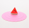 Novelty Food Grade Cute Round lid Customizable Environmental Multi-color Silicone Cup Cover