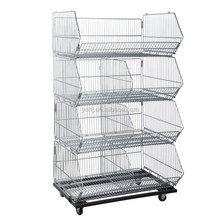 Metal Wire Hanging Storage Baskets Stand For Wholesale