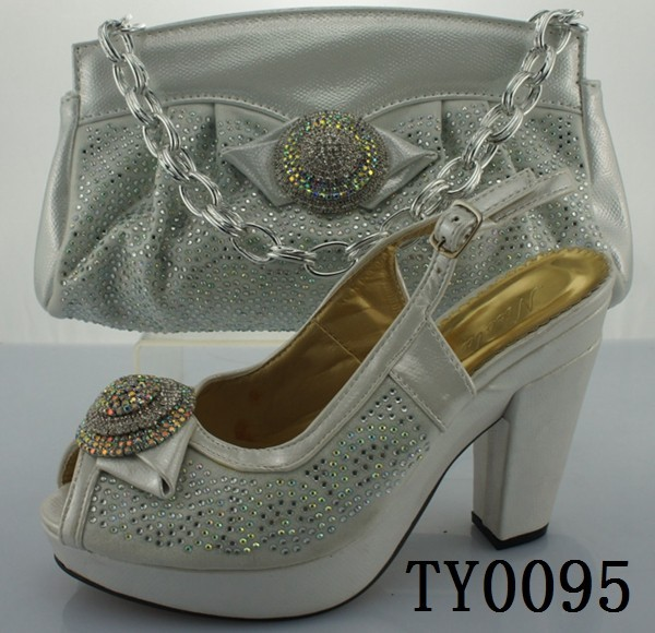 New Comming high quality Matching high heel shoes and bag wedding and party TY0095