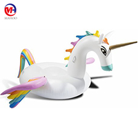Giant Unicorn Pool Float Inflatable Lounge Summer Outdoor Swimming Party Tube for Adult Kids
