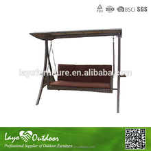 ISO9001 Approvaled Factory 2 seat 3 seat hanging patio swing with canopy