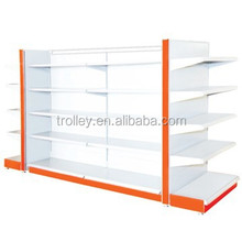 best selling Supermarket plain double side shelving /shopping equipment