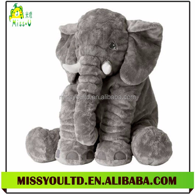 Handmade Soft Animal Toy Cute Plush Elephant Doll