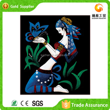 Factory supply bedroom decoration painting and calligraphy mosaic of diamond butterfly abstract painting