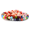 Bpa free food grade soft baby teether round silicone beads TH1264