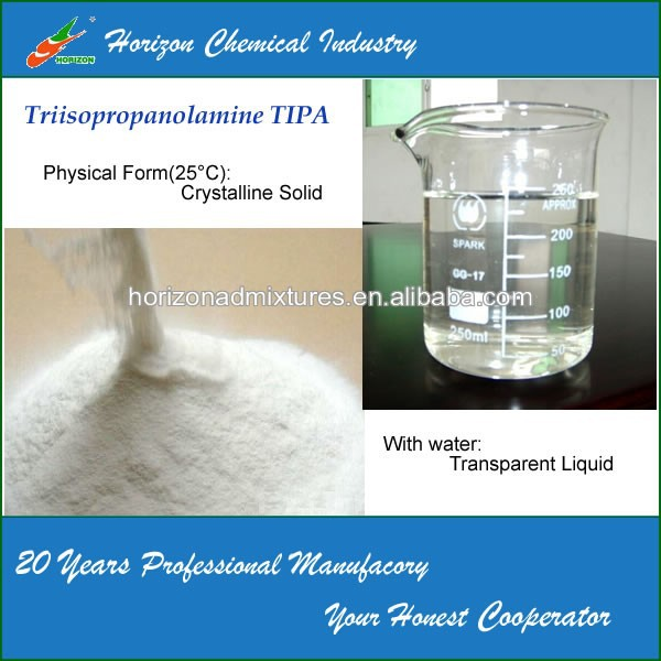 China Factory Supply Cement Grinding Aid Additive Chemical- TIPA85%