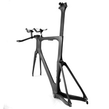 LightCarbon Di2 Compatible Full Carbon Fiber Frame Time Trial Bike 700C Road Frame LCTT001