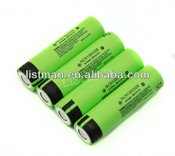 Panasonic 3400mAh NCR18650B 3.7V protected rechargeable li-ion battery