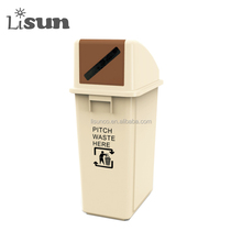 Plastic paper slot lid Garbage Bin Dustbin office waste container 60L indoor using