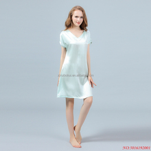 19mm silk night dress for sleeping,ladies summer pajamas silk dressing gown