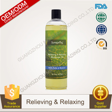 100% Pure Plants Extracts Relieving & Relaxing Body Massage Oil OEM/ODM Professional Supplier