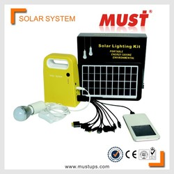 MUST 3W Portable Solar Power Systerm Kits/camping kits home use solar system
