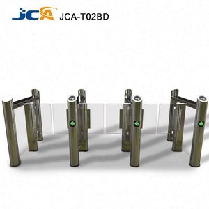 High Speed Top Encoder RFID Retractable Flap Barrier / Flap Turnstile / Flap Gate