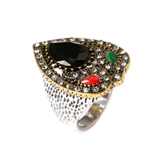 Wholesale ring back to the ancient palace of the wind craft hand decorated with the diamond ring gem stone