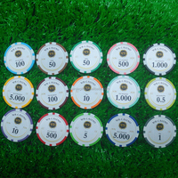 Customized printing casino chip / printing stickers poker chip ball markers