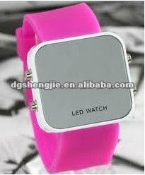 2012 cute colorful silicone led bracelet watch