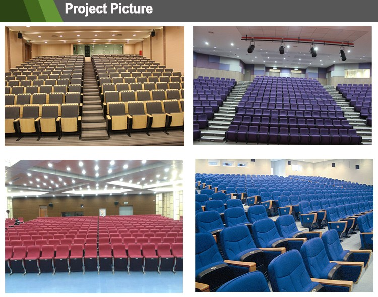 Durable lecture hall chair church chairs wholesale auditorium chair with writing table AP-12