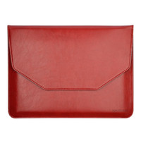 "Noble Red color Sleeve Bag for 12"" Apple New Macbook with Retina PU Leather Carrying Laptop Notebook"