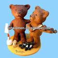 Gay bear wedding cake topper