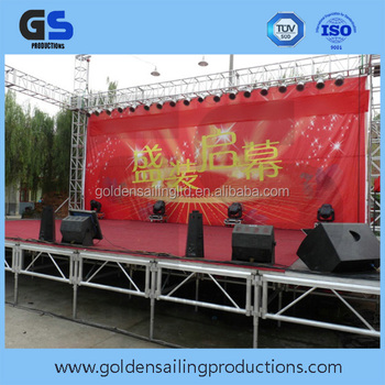 4ft*8ft aluminum assembly stage set for big event