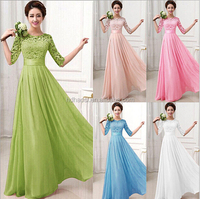 2016new Long Women's Chiffon Evening Party Formal Bridesmaid Prom Gown Dress