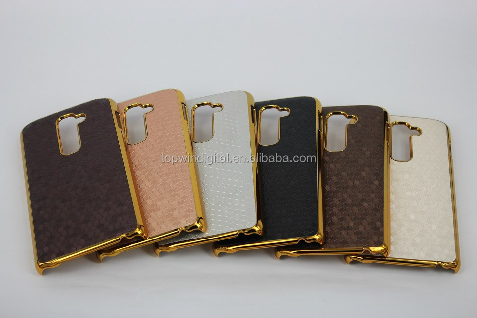 Wholesale Football Pattern Metal+PU Leatner Back Hard Cover For LG G2 Mobile Phone Case