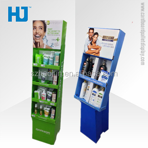Custom pop pos advertising cardboard display stand for bottle products